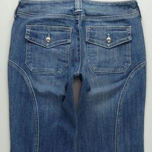 London Jeans Boot Cut Women's 2 Stretch Flap B644